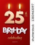 burning birthday candle in the... | Shutterstock .eps vector #1383463097