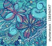 vector floral seamless pattern | Shutterstock .eps vector #138346547