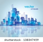 city skyline. graphical urban... | Shutterstock .eps vector #138347459
