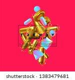 creative design poster  minimal ... | Shutterstock .eps vector #1383479681
