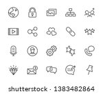set of communication icons ... | Shutterstock .eps vector #1383482864