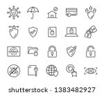 set of security icons  such as... | Shutterstock .eps vector #1383482927