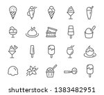 set of ice cream icons  such as ... | Shutterstock .eps vector #1383482951