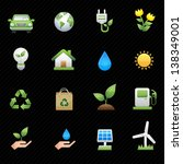 energy icons and black... | Shutterstock .eps vector #138349001