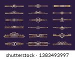 art deco set. vintage 1920s... | Shutterstock .eps vector #1383493997