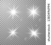 vector set of glare lighting ... | Shutterstock .eps vector #1383496994