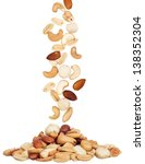 pile of macadamia  almond and... | Shutterstock . vector #138352304