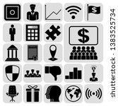 set of 22 business icons.... | Shutterstock .eps vector #1383525734