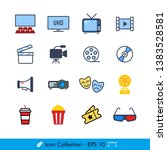 cinema  movies  related icons   ... | Shutterstock .eps vector #1383528581