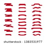 vector ribbons banners isolated.... | Shutterstock .eps vector #1383531977
