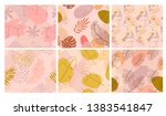 set of abstract seamless... | Shutterstock .eps vector #1383541847
