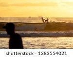 surfing at duranbah  nsw ... | Shutterstock . vector #1383554021