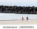 surfing at duranbah  nsw ... | Shutterstock . vector #1383554051