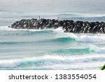 surfing at duranbah  nsw ... | Shutterstock . vector #1383554054