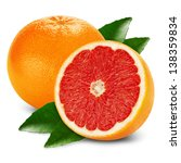 fresh grapefruit with half and... | Shutterstock . vector #138359834