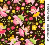 seamless pattern with fairies... | Shutterstock .eps vector #1383602081
