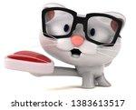 fun cat   3d illustration | Shutterstock . vector #1383613517