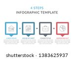 infographic template with 4... | Shutterstock .eps vector #1383625937