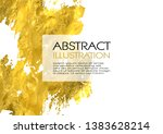 vector white and gold design... | Shutterstock .eps vector #1383628214