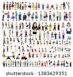 vector collection of kids in...   Shutterstock .eps vector #1383629351