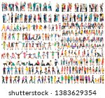 vector  isolated  set of people ... | Shutterstock .eps vector #1383629354