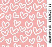 seamless pattern with hearts on ... | Shutterstock .eps vector #1383629411