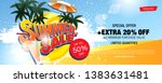 summer sale banner layout... | Shutterstock .eps vector #1383631481