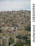 jordanian capital city amman... | Shutterstock . vector #1383634964