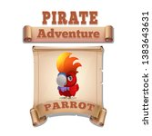 cute cartoon icon parrot on the ...