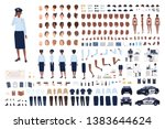 policewoman constructor set or... | Shutterstock .eps vector #1383644624