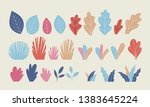 set of flat plants  vector... | Shutterstock .eps vector #1383645224