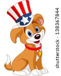 fourth of july puppy with top... | Shutterstock .eps vector #138367844