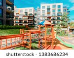 children playground and... | Shutterstock . vector #1383686234