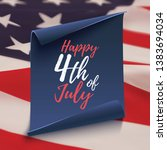 happy 4th of july. background... | Shutterstock . vector #1383694034