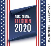 american presidential election... | Shutterstock . vector #1383694037