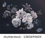 peonies  hydrangea  lily ... | Shutterstock . vector #1383694604