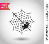 spider web icon. spider web... | Shutterstock .eps vector #1383697181