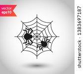 spider web icon. spider web... | Shutterstock .eps vector #1383697187