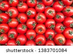 cherry tomatoes. red ripe... | Shutterstock . vector #1383701084
