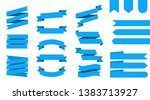 flat vector ribbons banners... | Shutterstock .eps vector #1383713927