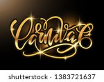 cute lettering hand drawn... | Shutterstock .eps vector #1383721637