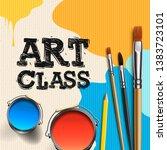 art class  workshop template... | Shutterstock .eps vector #1383723101