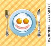 vector image of fun scrambled... | Shutterstock .eps vector #1383725684