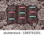 vector template of dessert ... | Shutterstock .eps vector #1383731201