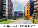 european modern residential... | Shutterstock . vector #1383733637
