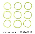 green doodle sketched circles....   Shutterstock .eps vector #1383740297