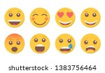 set of smile emoji for social... | Shutterstock .eps vector #1383756464