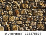 background of a wall of...   Shutterstock . vector #138375839