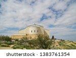 mount nebo church  mosaics and... | Shutterstock . vector #1383761354