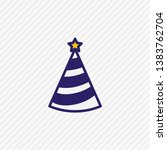 illustration of party hat icon... | Shutterstock . vector #1383762704
